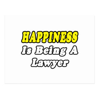 Happiness...Lawyer Postcards