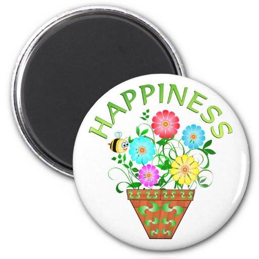 Happiness Refrigerator Magnet