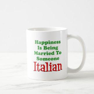Happiness Married To Someone Italian Coffee Mug