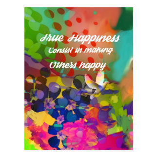 Happiness message from Voltaire. Postcard