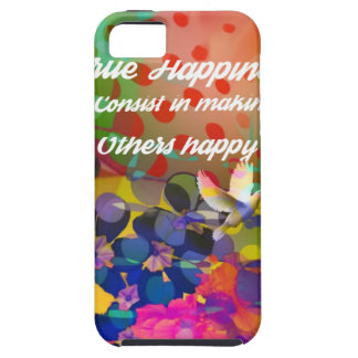 Happiness message from Voltaire. Tough iPhone 5 Case