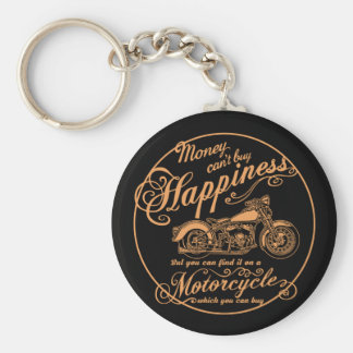 Happiness - Motorcycle Key Ring