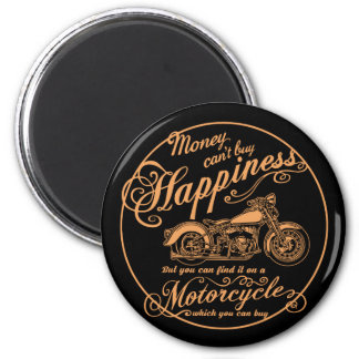 Happiness - Motorcycle Magnet