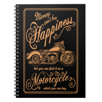 Happiness - Motorcycle Notebooks