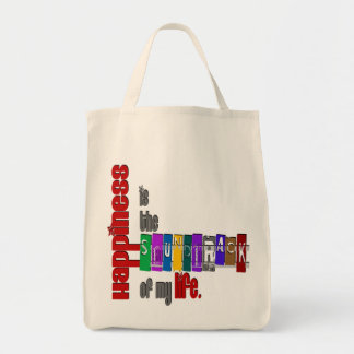 Happiness - Organic Grocery Tote