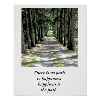 Happiness quote - poster