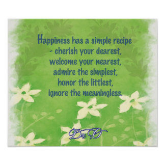 Happiness Recipe Poster