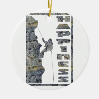 Happiness: Rock Climbing Ceramic Ornament