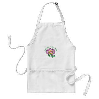 Happiness Starts With Yoga Adult Apron