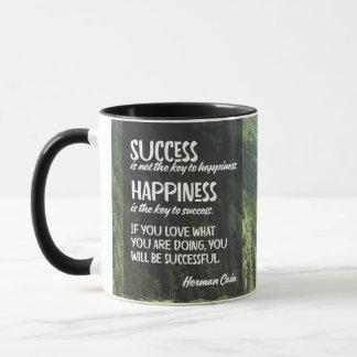 Happiness The Key To Success Mug