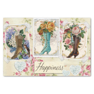 Happiness Victorian Steampunk Boots Tissue Paper