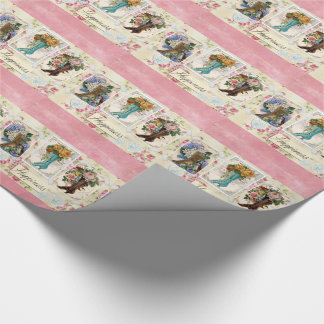 Happiness Victorian Steampunk Boots Wrapping Paper