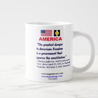 happiquotes - The greatest danger to American Large Coffee Mug