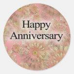 Happpy Anniversary Round Stickers