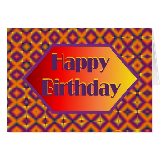 happpy birthday greeting card