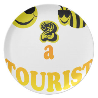 happy2bee a tourist. dinner plates
