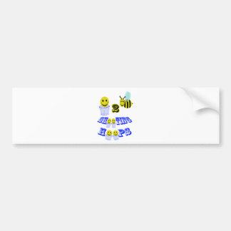 happy2bee shooting hoops bumper sticker