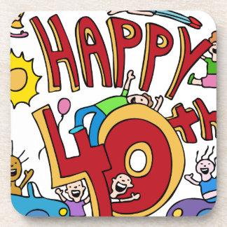 Happy40th Birthday Cartoon Coaster
