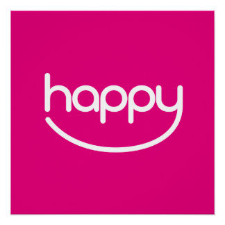 "HAPPY ♥ 01 ♥ 20"" x 20"", Poster Paper (Semi-Gloss)"