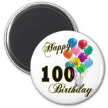 Happy 100th Birthday Gifts and Birthday Apparel Refrigerator Magnet