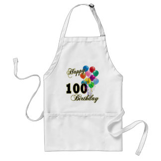 Happy 100th Birthday Gifts and Birthday Apparel Standard Apron
