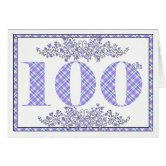 Happy 100th Birthday gingham card