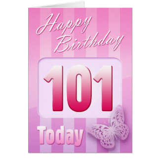 Happy 101st Birthday Grand Mother Great-Aunt Mom Card