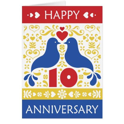 happy 10th anniversary card  zazzle