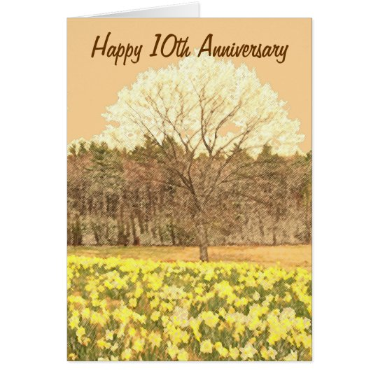 Happy 10th Anniversary Card