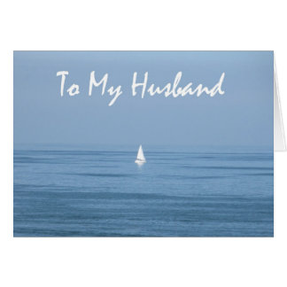 Happy 10th Anniversary Husband - Sailboat Card