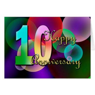 Happy 10th Anniversary (wedding anniversary) Card