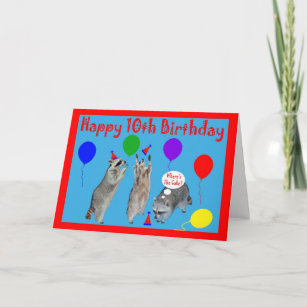 Happy 10th Birthday Greeting Card