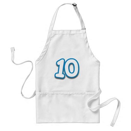 Happy 10th Birthday in Sim Font Apron