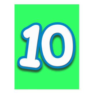 Happy 10th Birthday in Sim Font Postcard
