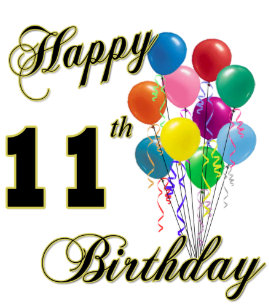 Happy 11th Birthday Gifts And Apparel Classic Round Sticker
