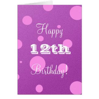 Happy 12th Birthday Card for Girl