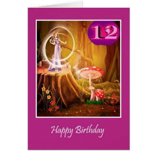 Happy 12th Birthday for girl with fairy twelfth Card