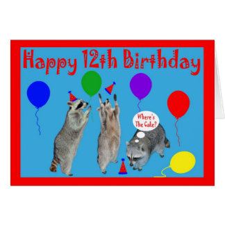 Happy 12th Birthday Greeting Card
