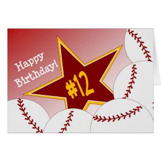 Happy 12th Birthday, Softball Star! Card