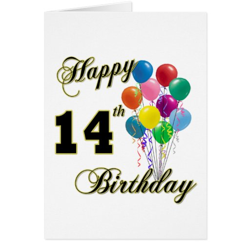 Happy 14th Birthday Gifts And Birthday Apparel