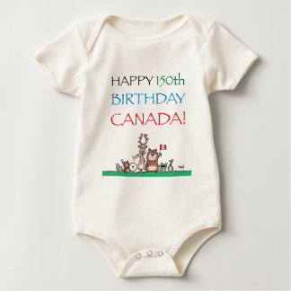 Happy 150th Birthday Canada! Baby Bodysuit