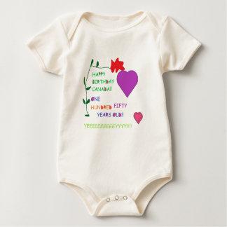 'Happy 150th Birthday Canada' Baby Romper Baby Bodysuit