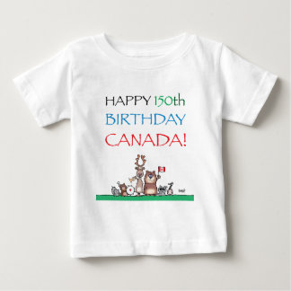 Happy 150th Birthday Canada! Baby T-Shirt