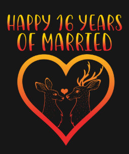 Happy 16th Anniversary T Shirts Shirt Designs Zazzlecomau