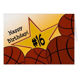 Happy 16th Birthday, Basketball Star! Card