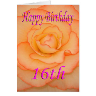 Happy 16th Birthday Flower Card
