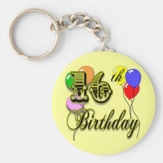 Happy 16th Birthday Gifts and Birthday Apparel Key Ring