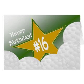 Happy 16th Birthday, Golf Star! Card