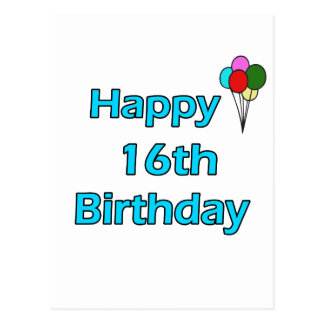 Happy 16th Birthday Post Cards