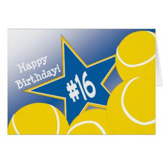 Happy 16th Birthday, Tennis Star! Card
